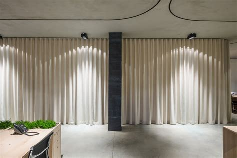 office curtain un curtain office by dekleva gregoric architects