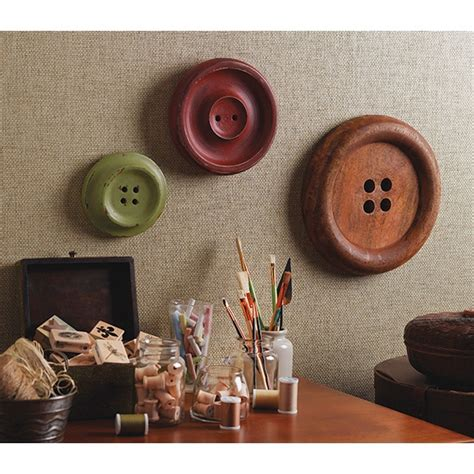 wall art meijer com i love these giant wooden buttons decorating our home