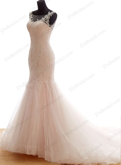 Colored Wedding Gown by Cheap Blush Color Wedding Dress