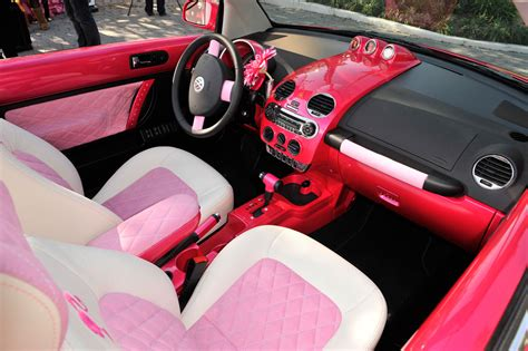 pink car interior malibu barbie new beetle convertible