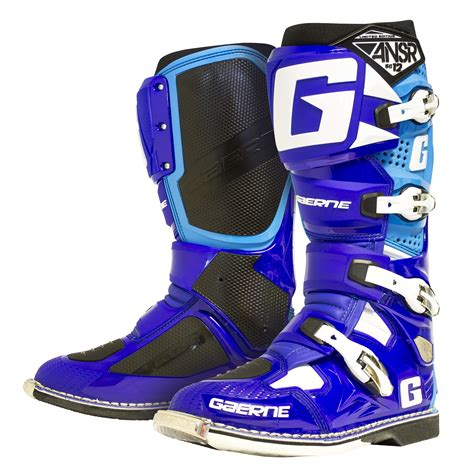 blue motocross boots gaerne boot sg12 blue cyan motocross equipment