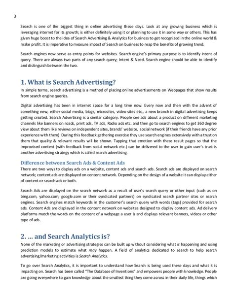 How To Make A Concept Paper - search analytics advertising concept paper
