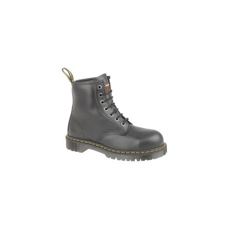 Sepatu Boot Air Wair dr martens air wair black leather safety boots with