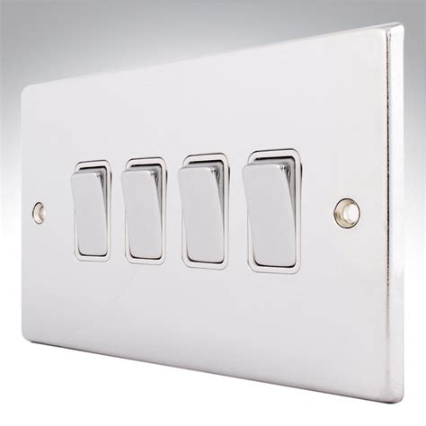 4 switches one light hartland polished chrome light switch 4 gang 2 way