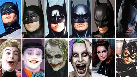 actor who played the part of batman on tv who played batman robin catwoman the joker penguin