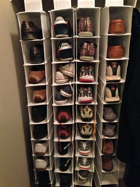 Shoe storage for a closet the wooden shoe racks for