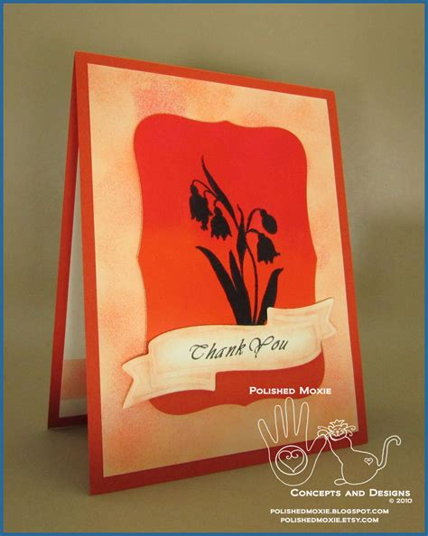 Thank You Handmade Cards - handmade floral thank you card clean and simple design