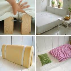 Diy Sofa Bed How To Make A Bed And Guest Room Fit In A Small Space Apartment Therapy