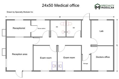 medical office floor plan sles specialty modular inc