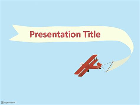 airplane ppt template free airplane powerpoint templates myfreeppt