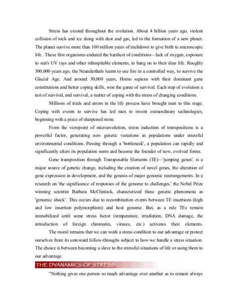 sle project report on stress management stress management project report icici bank