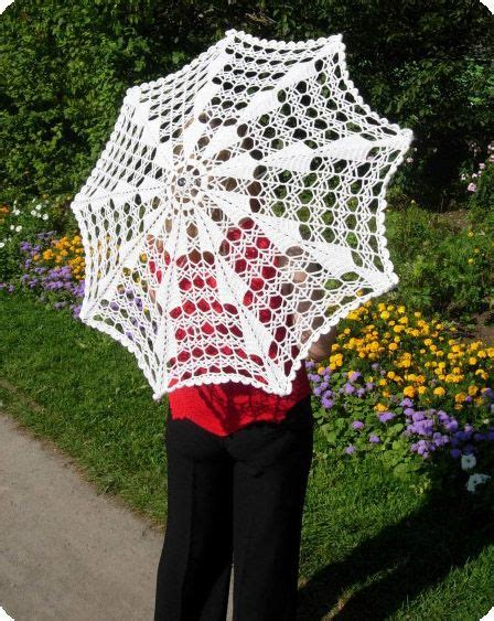 umbrella knitting pattern knit umbrella crocheted parasols pinterest crochet
