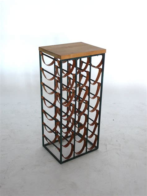 Wine Rack Board by Arthur Umanoff Wine Rack With Cutting Board At 1stdibs