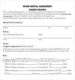 Room Rental Agreement Template Free by Rental Agreement Templates 15 Free Word Pdf Documents