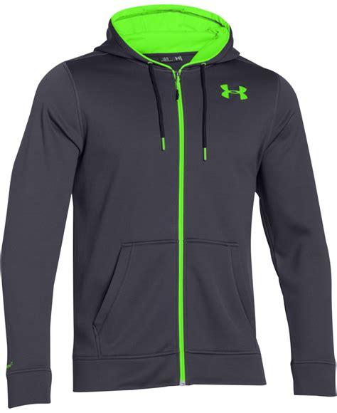 Hoodie Zipper Armour Logo C3 armour armour 174 fleece zip hoodie in gray lyst