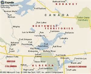 Yellowknife Canada Map by Canku Ota June 19 2004 Saving Native Languages On
