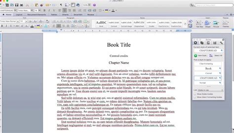 ebook word format using word styles to perfectly format an ebook