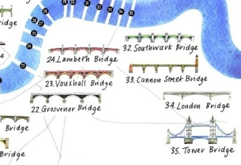 map of river thames bridges an illustrated map of bridges on the thames londonist