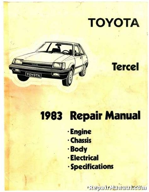 Toyota Repair Manual Toyota Tercel Repair Manual Images