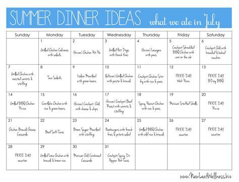 dinner ideas summer dinner ideas new leaf wellness
