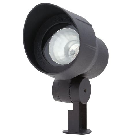 Hton Bay Landscape Lighting Low Wattage Flood Lights Outdoor Shop Portfolio Portfolio 50 Watt 50w Equivalent Black Low