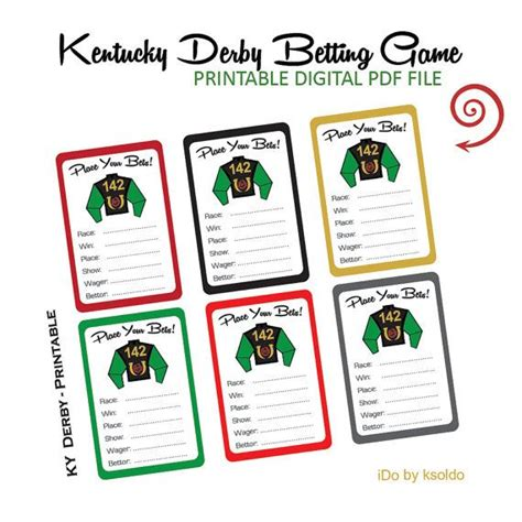 football betting card template kentucky derby program pdf