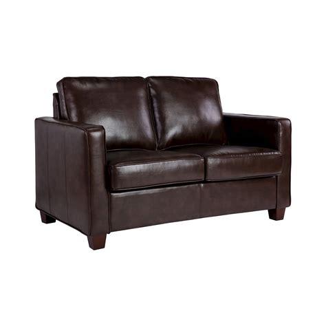 bonded leather loveseat square arm bonded leather loveseat threshold ebay