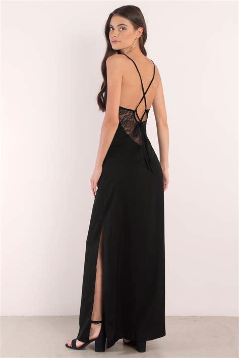 trendy black dress lace  dress full dress maxi