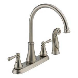 delta kitchen faucet sprayer repair faucet com 21902lf ss in brilliance stainless by delta