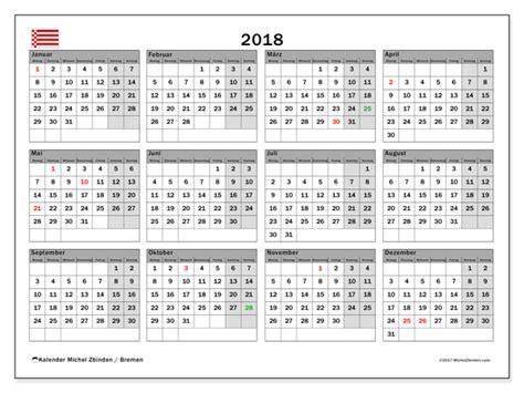 Kalender 2018 Zum Ausdrucken Bremen Kalender Zum Ausdrucken 2018 Feiertagen Deutschland
