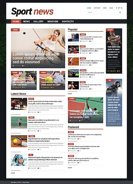 joomla category blog layout template template 53529 ensegna themes