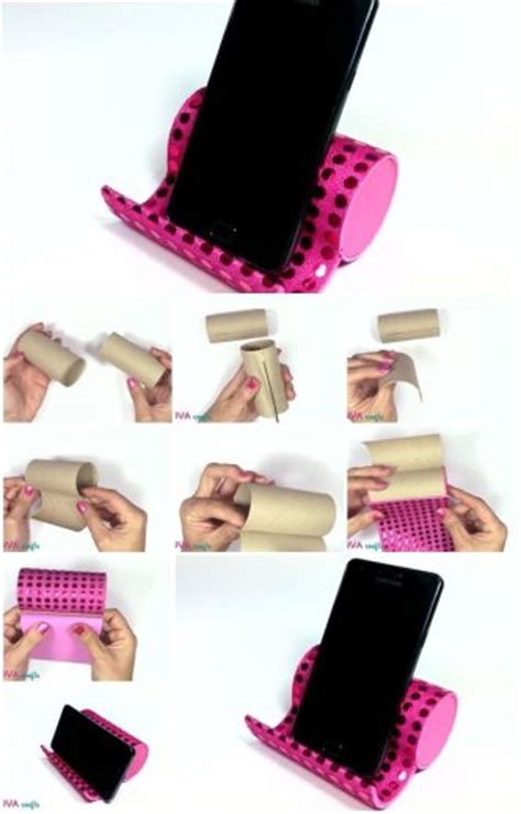 How To Make A Paper Phone - how to make phone holder from toilet paper rolls iphone