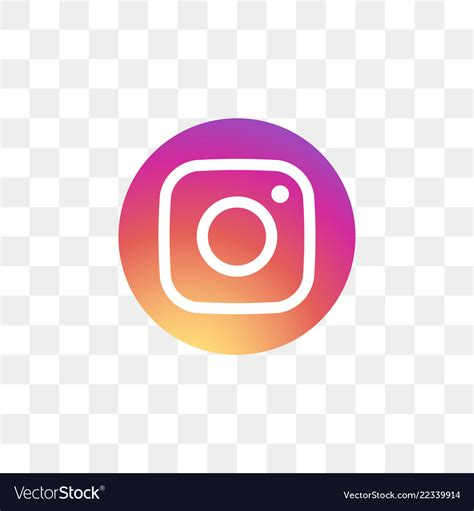 instagram social media icon design template vector image