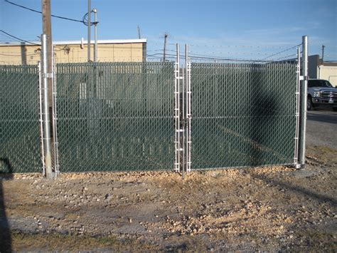chain link swing gate commercial chain link s j fence co