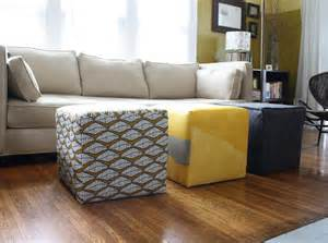 Padded Ottoman Bench Diy Storage Ottoman Ideas From Recycle Crates And Pallets