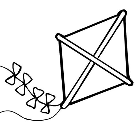 large kite coloring page a large kite coloring pages http coloring2pagescom