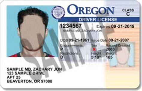 oregon id card template oregon becomes state to issue gender non binary id