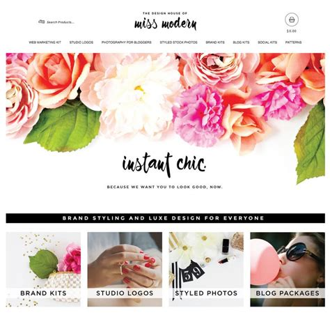flower design website three excellent exles of spring themed designs