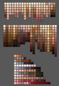 skin color palette skin colour palettes hows