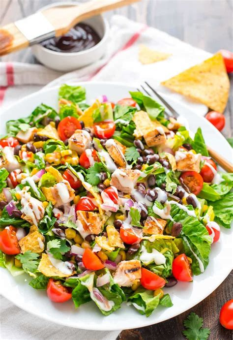 salads recipes bbq chicken salad with creamy ranch