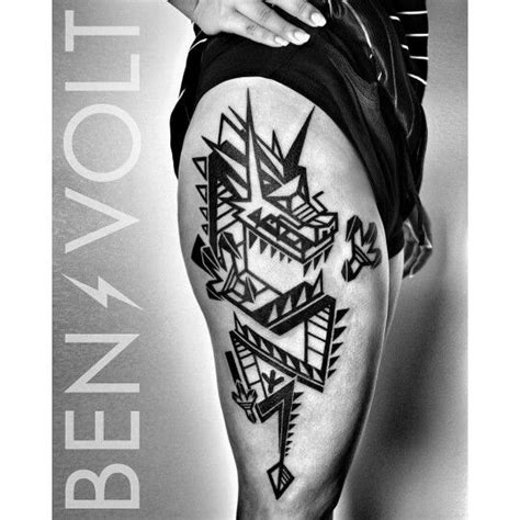 tattoo geometric dragon 17 best images about ben volt tattoo on pinterest