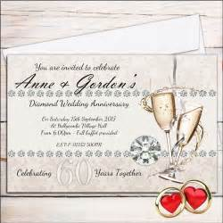 10 personalised 60th wedding anniversary invitations invites n18 ebay