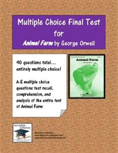 comprehension check author biography george orwell complete collection of comprehension check study guide