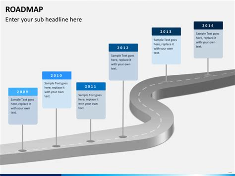 Road Map Powerpoint Template Issue Capture Timeline Road Ppt Template Free