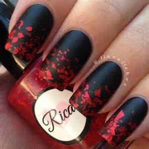 and black designs 45 stylish red and black nail designs 2017