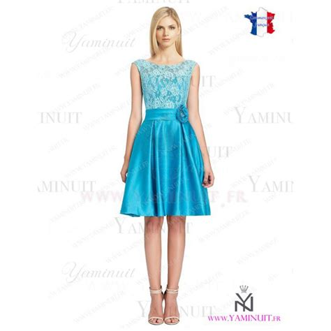 Robe De Mariée Bleu Turquoise Et Ivoire - robe de temoin mariage bleu turquoise