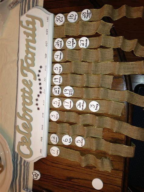 Family Calendar Ideas 24 best family birthday calendar images on