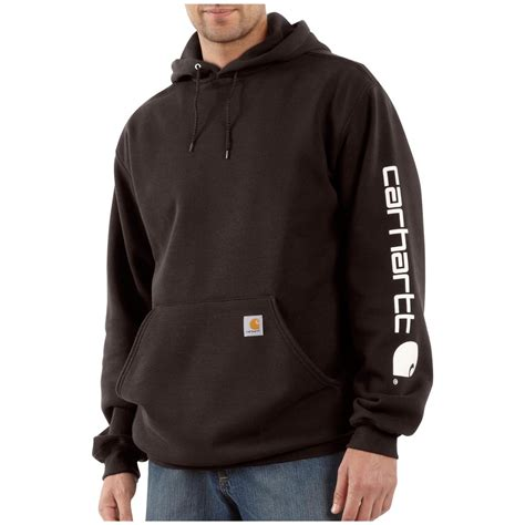 s hoodie s carhartt 174 midweight hooded logo sleeve pullover
