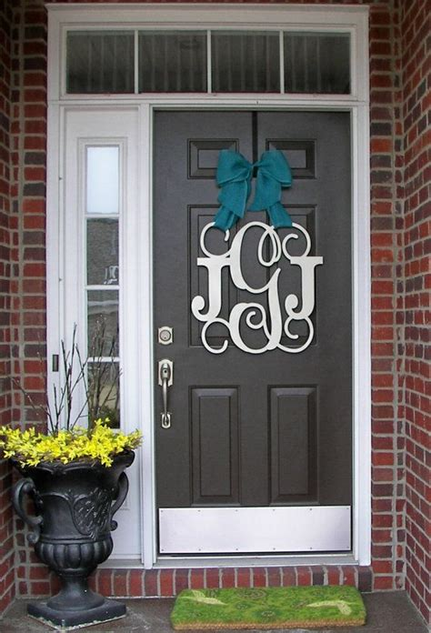 Monogram Front Door Decoration 1000 Ideas About Monogram Door Decor On Initial Wreath Front Door Decor And Initials