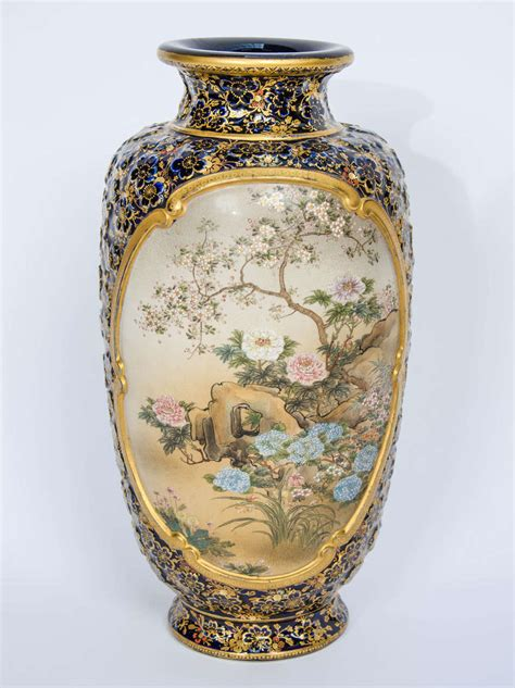 Kinkozan Vase by Kinkozan Satsuma Vase At 1stdibs